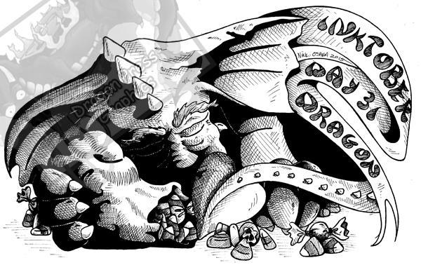 Inktober Day 31 - Dragon by DragonPress
