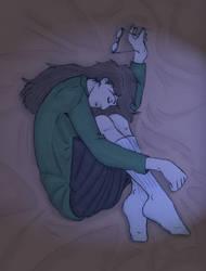 Sleeping Daria Colour by beatnikshaggy