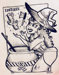 Inktober 2018- Pointy Potion by veeeester400