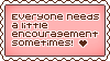 Stamp: Everyone Needs Encouragement by starfire-wolf