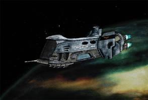 Warhammer 40k Spaceship by R1EMaNN