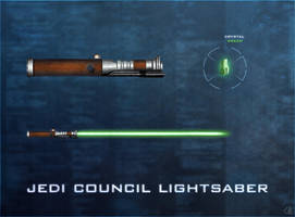 Jedi Council Lightsaber by R1EMaNN