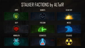 Stalker faction icons by R1EMaNN