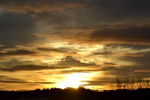 Coucher de soleil sur Mirande by Aude-la-randonneuse