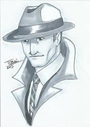 DoodleTu sketch - Dick Tracy by tamtu