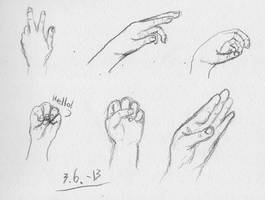With right hand, day 5 by HarmlessDevil