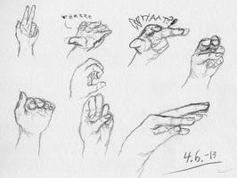 With right hand, day 6 by HarmlessDevil