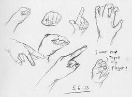 With right hand, day 7 by HarmlessDevil