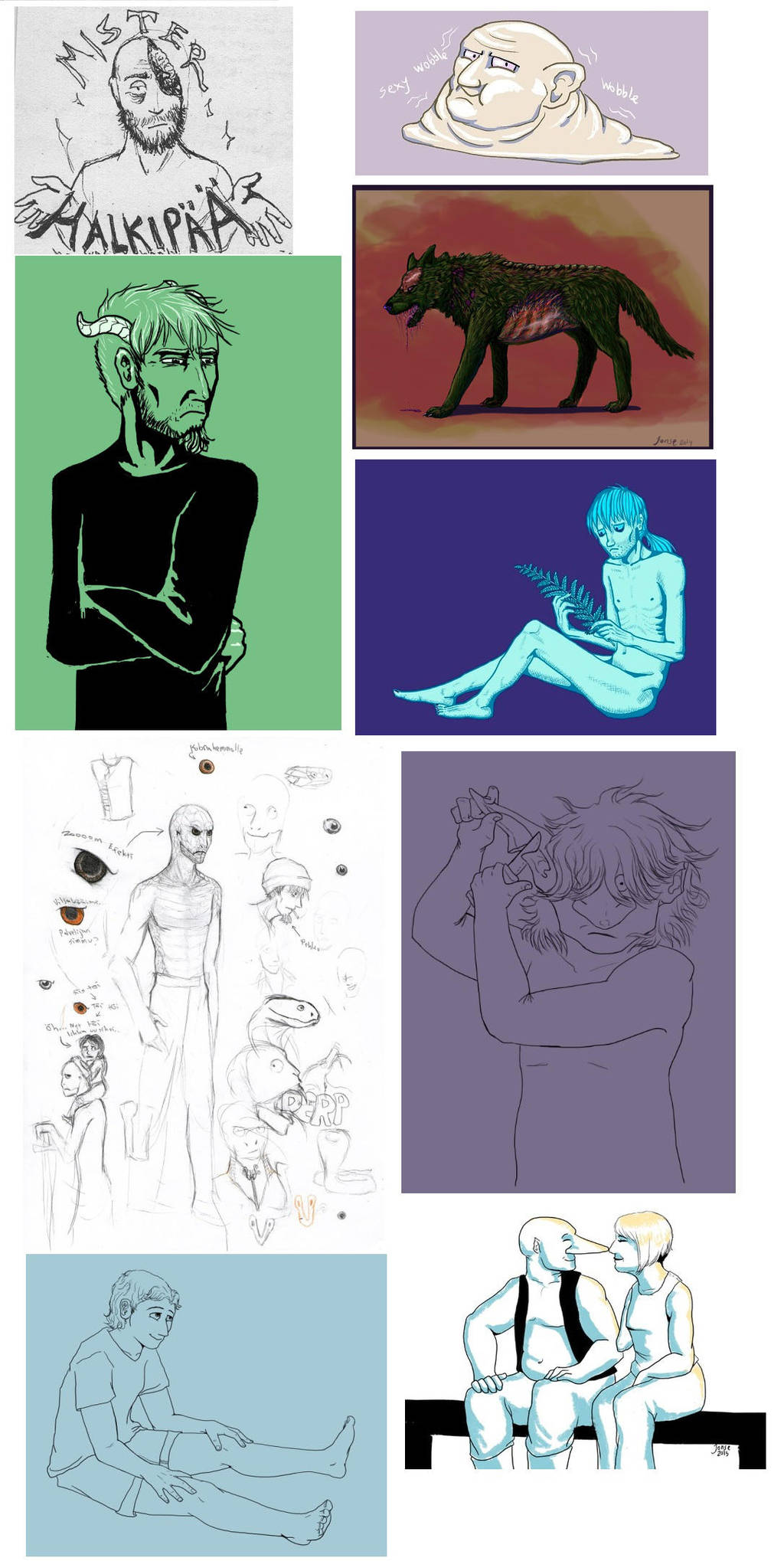 Sketches from tumblr by HarmlessDevil