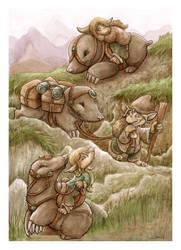 Mole People trekking by FriedaVanRaevels