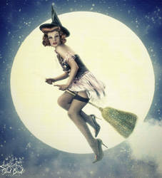 Vintage Pinup Witch by HemlockCreek