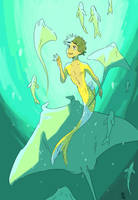 Swimming with rays by WendyMartin