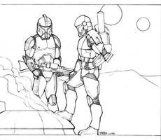 Clonetroopers chillin' by MikeDimayuga