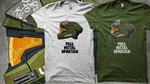 Full Metal Spartan T-Shirts by MikeDimayuga