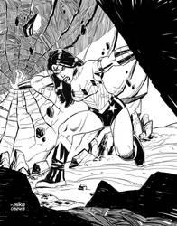Wonder Woman-BnW by MikeDimayuga
