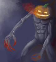 Pumpkin Man by JonHoffmanArt