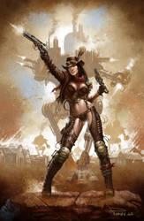 Steampunk Cowgirl by madadman