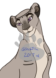 Chinchilla bust Hand drawn by SquealsLifeLessons