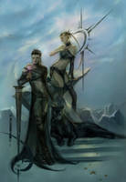 Flight and Yevahn by azhrarn