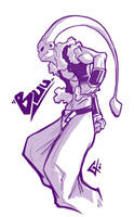Gotenks-Buu Sketch by G-Chris