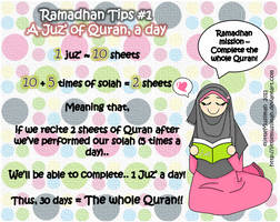 Ramadhan Tips 1 by littleMuslimah