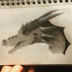 Dragon Head by livdiaz8