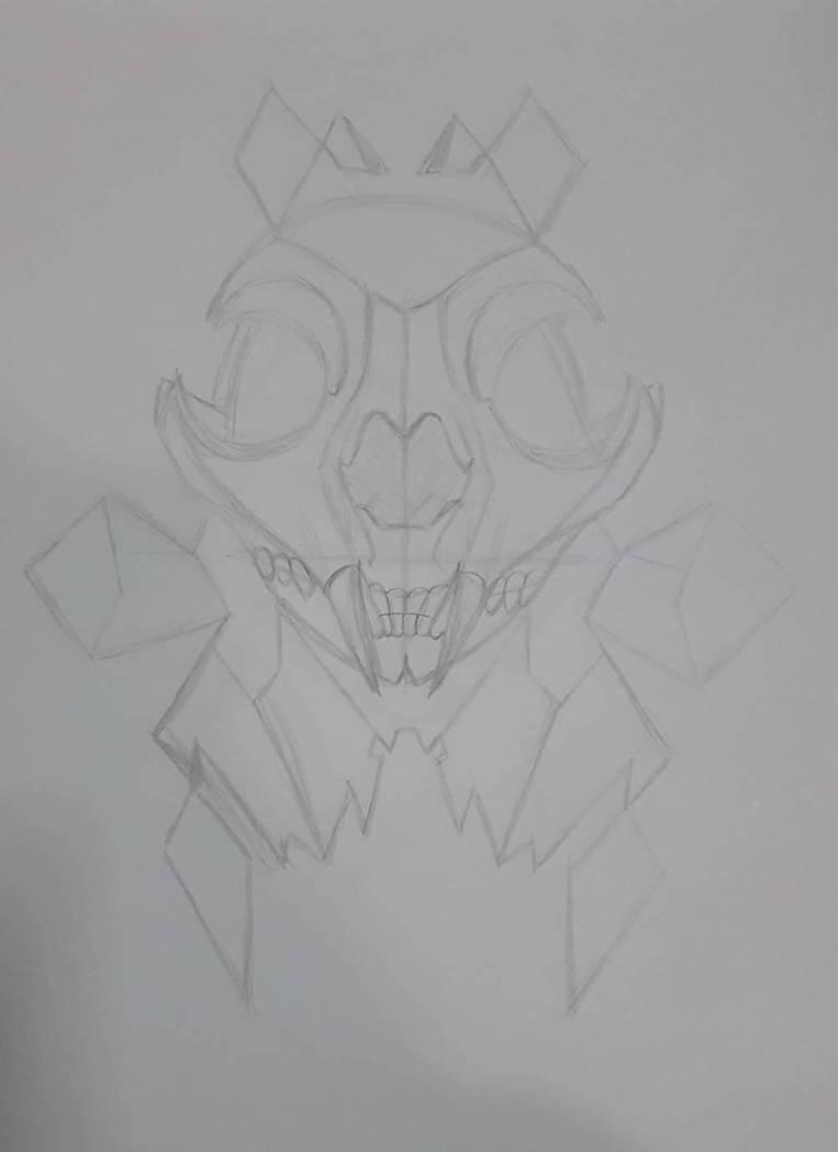 WIP sketch-Halloween Kitty   by KaigoDemon
