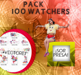 +PACK: +100 Watchers by YouHeartAndMine