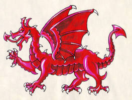 Heraldic Dragon by Clisair