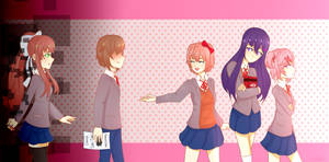 Doki Doki Literature Club by natakii
