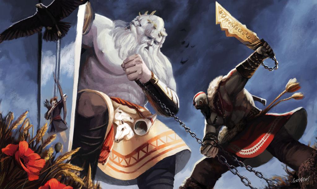 GOW Kratos vs. Svetovid - contest art by sosQsos