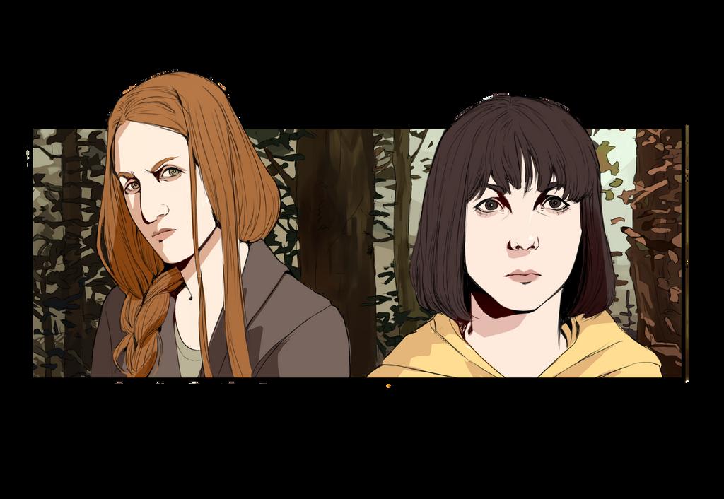 Mia and Kim - Sour Marmalade Art by sosQsos