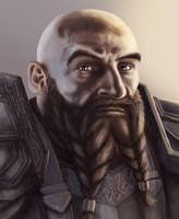 Dwarf portrait by Domigorgon