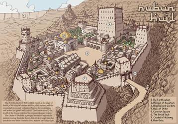 Fantasy Town Map - Rubun Huil by Domigorgon