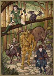 Woodland Stride by Domigorgon