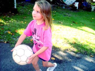 Tonya and the Soccerball by usagisailor