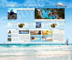 Travel Website by ColorsChef
