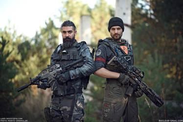 Dystopian Soldiers by NuclearSnailStudios