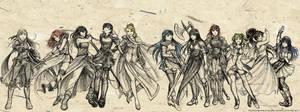 Fire Emblem Faves - Females by Meibatsu