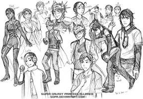 More SGPA genderbends - rule63 - prepare to swoon by Meibatsu