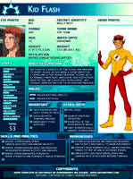 SGPA TEMPLATE with Kid Flash - B03 by Meibatsu