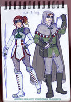 Timeskip characters - Mint and Sage! by Meibatsu