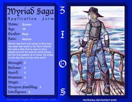 Myriad-Saga WIP: Rowan by Meibatsu