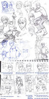 Rowan montage - old sketches by Meibatsu