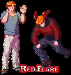 [S2] Red Flare - Hot-headed Hunk by Meibatsu