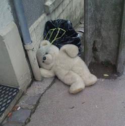 Poor teddy bear by Pidounette