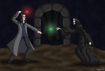OotP: Sirius vs. Bellatrix by cardinalbiggles