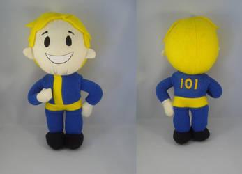 Fallout 3 Vault boy plush by pandari