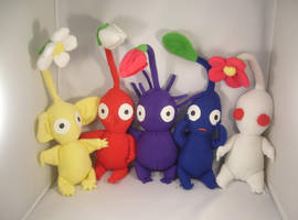 Pikmin plush set commission by pandari
