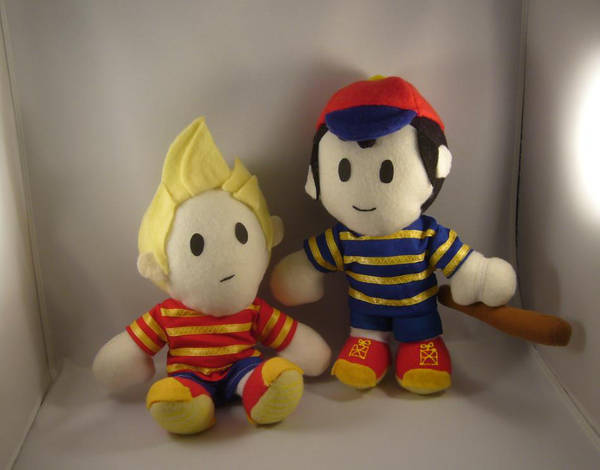 Earthbound Ness Lucas plushes by pandari